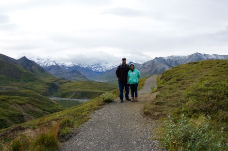 Mandy and John near the Eielson Visitor Center